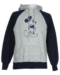 80s Grey & Navy Disney Mickey Mouse Hoody