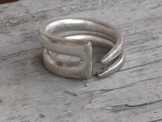 Up-cycled Silverplate Fork Ring - could go along with the arm piece as acessories