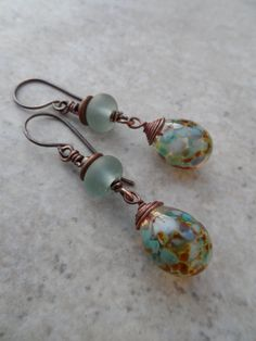 Ocean Treasure ... Lampwork Sea Glass Lampwork and by juliethelen, $24.00