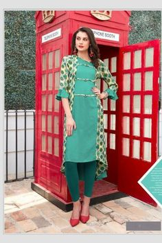 2018 - Wide Plain fabric Designer Kurti in Blue With Dupatta Designer Kurtis, Designer Dresses, Style Finder, News Design, Fashion Pants, Dress Patterns, Fabric Design, Cold Shoulder Dress, Fashion Finder