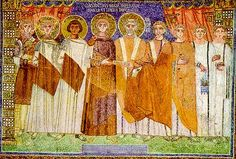 Roman Emperor Constantine IV and his court.  He organized the military and city of Constantinople for a siege of five years while fighting wars on multiple fronts over three continents (Africa, Europe and Asia).
