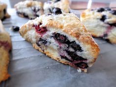 Blueberry Scones - made these today, personally i would omit the orange zest, otherwise, delish!