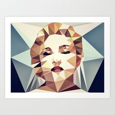:: madonna :: Art Print by Nico Vincentini