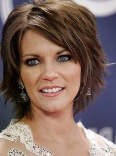 Shag Hairstyles Beautiful Short Layered Shag Hairstyles With Thin Bangs For Older Women Over 40 With