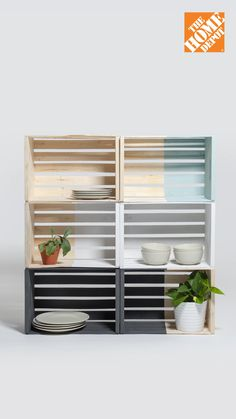 1a8a32effc85 DIY Modular Wooden Crate Shelves. Simple, functional, and affordable. Stand  out from