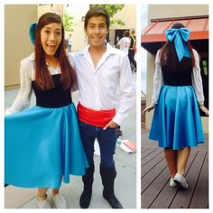 The Little Mermaid Prince Eric and Ariel costumes diy #thelittlemermaid #redhair #ariel  sc 1 st  Pinterest : disney princess halloween costumes diy  - Germanpascual.Com