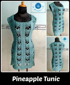 Pineapple Tunic - free crochet pattern