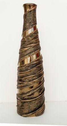 Contemporary Vase, Fabric Sculpture over Ceramic Base. £9.50, via Etsy.