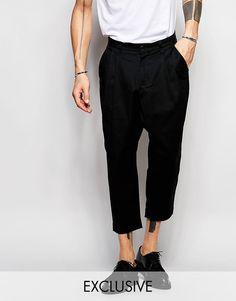 Image 1 - Black Eye Rags - Pantalon à entrejambe bas et ourlet fuselé