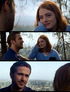 """La La Land. """"Je t'aimerais toujours.""""_""""Moi aussi je t'aimerais toujours"""". Ryan Gosling and Emma Stone."""