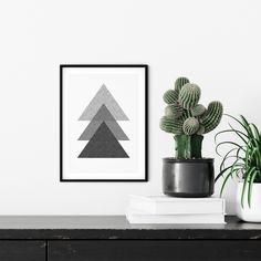 Triangles Wall Art Printable, Minimalist Art, Digital Download, Art Printable, Scandinavian Print, Print Monochrome, Modern Poster, Scandi Triangle Wall, Triangle Print, Minimalist Art, Abstract Canvas, Printable Wall Art, Monochrome, Scandinavian, Digital Prints, Artsy