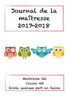 Journal de la maîtresse 2017-2018