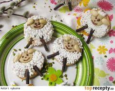 Velikonoční ovečky Pudding, Easter, Sugar, Cookies, Cake, Food, Crack Crackers, Custard Pudding, Easter Activities