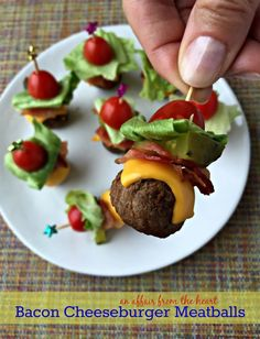 The perfect spring/summer appetizer whether you're entertaining indoors or out! It's so easy and looks adorable. It's even great for an after school snack. Ingredients: • Meatballs – freshly made or frozen • American Cheese, cut in small pieces • Pre-Cooked Bacon slices, cut in small pieces • Iceberg Lettuce, cut into small pieces • [...]