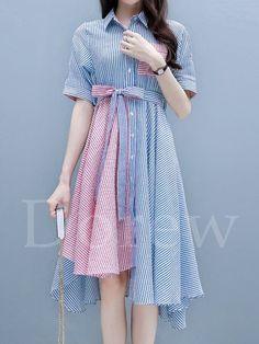 1b833f63588ff ファッション通販 #Fashion IMINOARU Dorew気質淑女レディースファッション切り替えワンピース大人可愛い蝶結び