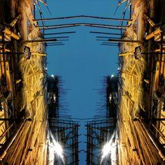 """HONG KONG \ When night falls in the city  #WHPtexture #tributehotels #hongkong #constructioninprogress"""
