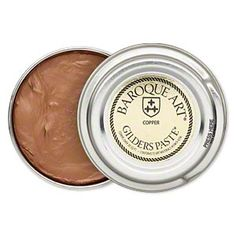 Wax paste, Gilders Paste®, copper.    Gilders Paste® is a wax based medium to accent or color various mediums including wood, metal, Kato Polyclay™, ceramic, leather and more. - $8.00