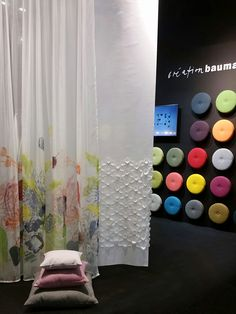 Direct from Stockholm furniture fair: Colorful dots with our new upholstery fabric ALEX and man more news to discover at Création Baumann stand. Come and discover Metals, Prints and many Colors!