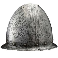 Italian Renaissance 16th C. Helmet | From a unique collection of antique and modern arms, armor and weapons at https://www.1stdibs.com/furniture/more-furniture-collectibles/arms-armor-weapons/