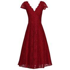 Buy Jolie Moi Cap Sleeve Scalloped Dress Online at johnlewis.com