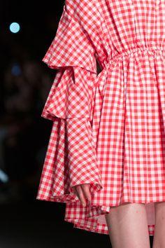 AU JOUR LE JOUR | Spring Summer 2017 | Chequered flounces mini dress