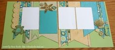 Two Page Scrapbook Layout Footloose Beach Summer #ctmh #scraptabulousdesigns