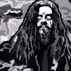 Rob Zombie Made with Microsoft Paint
