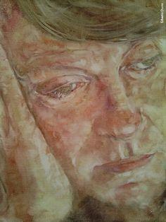 Fabrizio visto da Erberto Durio, olio su tela, 2015/16 Painting, Poet, Musica, Painting Art, Paintings, Painted Canvas, Drawings