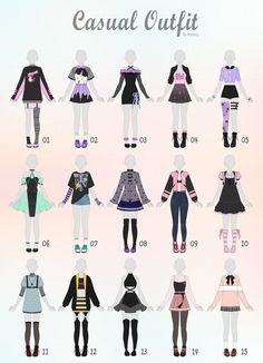 Closed) casual outfit adopts 31 by rosariy relatable в 2019 Anime Outfits, Mode Outfits, Casual Outfits, Fashion Design Drawings, Fashion Sketches, Drawing Anime Clothes, Manga Clothes, Drawings Of Clothes, Outfit Drawings
