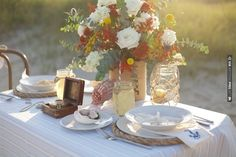 beautiful sea side tablescape | CHECK OUT MORE IDEAS AT WEDDINGPINS.NET | #wedding
