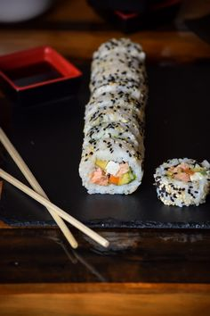 Smoked Salmon Philadelphia Roll Sushi (3)
