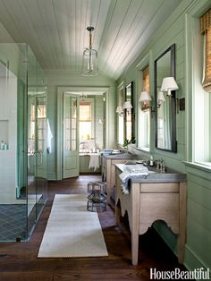 Calming atmosphere.  63 Bathroom Design Ideas - Decor Pictures of Bathrooms - House Beautiful