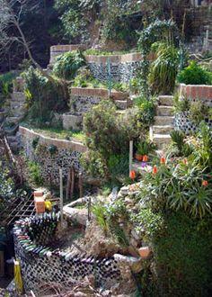 DIY steep slope garden