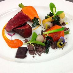 @cevatelat - Venison, chocolate soil, vallum vegetables, heritage potatoes #FeedYourEyes Nov/Dec