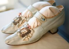 amazing french marie antoinette antique shoes