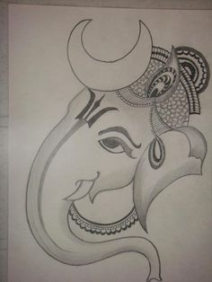 Explore collection of Easy Ganesh Drawing Ganesha Drawing, Ganesha Painting, Ganesha Art, Ganpati Drawing, Lord Ganesha, Ganesha Sketch, Pencil Drawing Pictures, Pencil Art Drawings, Pencil Drawings
