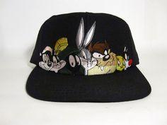 196a51df838 vintage looney tunes warner bros snapback vtg 90 s bugs bunny tazz tweety