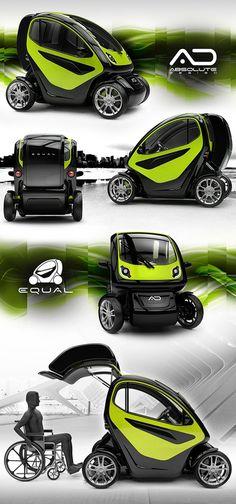 Un concept de #voiture #electrique pour les personnes à mobilité réduite