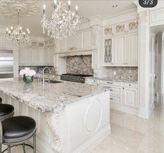 Elegant Kitchens, Luxury Kitchens, Beautiful Kitchens, Home Kitchens, Rustic Kitchen Design, Luxury Kitchen Design, Home Decor Kitchen, Diy Kitchen, Kitchen Interior