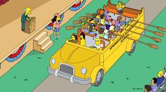 """Finished scene from the """"To Cur With Love"""" episode of THE SIMPSONS."""