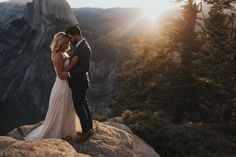 The couple portraits from this epic Yosemite wedding are abosolutely breathtaking  | Image by Erin & Geoffrey Photography