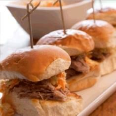 Pulled Pork Sliders with Tangy Coleslaw