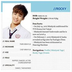 ASTRO ROCKY  He's 2 years older than me OPPA I LOVE YOU
