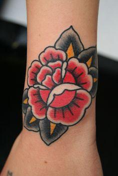 Dane Mancini Inkamatic trieste tattoo traditional rose by elisa.jolie, via Flickr