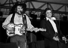 Waylon Jennings and Johnny Cash 1980