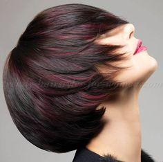 bob+haircut+-+brown+bob+hairstyle+with+red+highlights