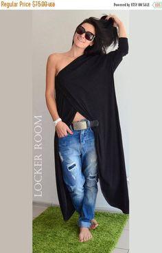 Black Tunic Women Maxi Tunic Oversize Top Plus Size Maxi Trendy Plus Size Clothing, Plus Size Outfits, Plus Size Fashion, Long Tunic Tops, Long Sleeve Tunic, Long Tunics, Long Shirts, Plus Size Kleidung, Stylish Plus