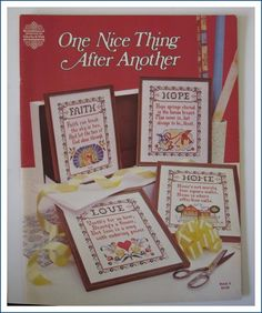 One Nice Thing After Another Counted Cross Stitch Patterns by Gloria and Pat
