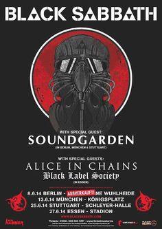 BlackSabbbath, Soundgarden, AlicenInChains