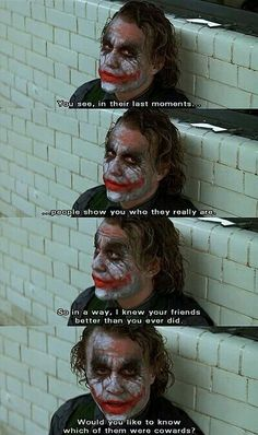 Most memorable quotes from Joker, a movie based on film. Find important Joker Quotes from film. Joker Quotes about who is the joker and why batman kill joker. Check InboundQuotes for Joker Heath, The Joker, Heath Legder, Arley Queen, The Dark Knight Trilogy, Dark Knight Quotes, Dark Quotes, Joker Dark Knight, Im Batman